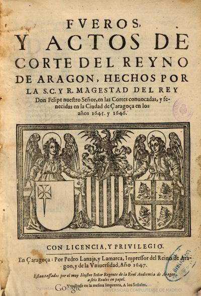LA CASA ARAGONESA Y SU PAPEL EN LA SOCIEDAD Y EL DERECHO